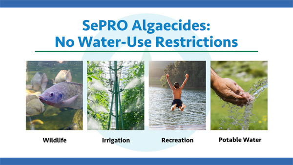 SePRO Algaecides Have No Water-Use Restrictions