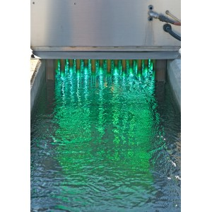 UV light is currently used in some municipal water treatment plants, and could routinely replace chlorine treatment in the future. Image credit: http://uvsuperstore.com/